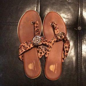 Shoes - Women's Leopard Print Sandals - Size 10M